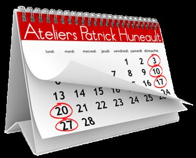 Dates des prochains ateliers